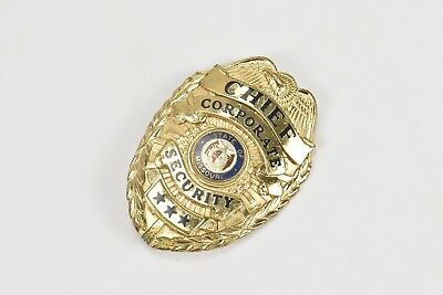 Chief Corporate Security State of Missouri Gold Tone Badge Three Stars Obsolete