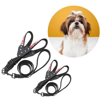 Safety Walking Nylon Reflective Dog Puppy Adjustable Harness Leads Leash Set