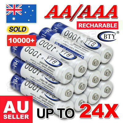 4-24x 3000mAh AA/1000mAh AAA Rechargeable Battery NI-MH 1.2V Recharge Batteries