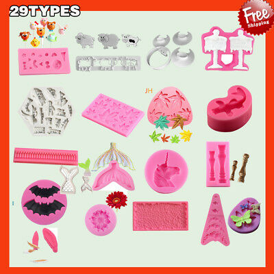 29 Shapes Silicone Cake Decorating Moulds Candy Cookie Chocolate Baking Ba