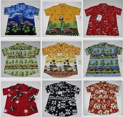 Kids Hawaiian Shirt Size S M L Youth Toddler Button Down Pineapple Connection