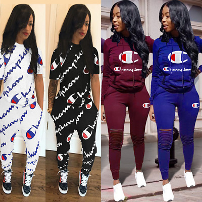 2pcs/set Women Casual Tracksuit Jogging Gym Sports Hoodies Sweatshirt Pants Suit