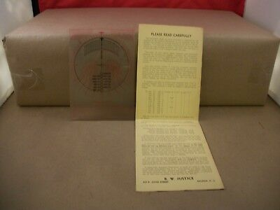 Vintage Manual Graphic Solarmeter with Instructions Made by R. W. Justice