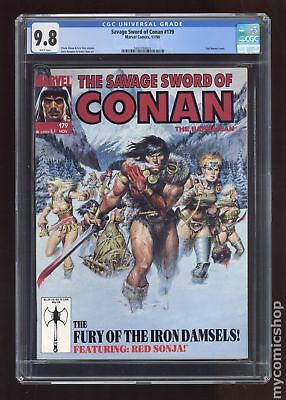 Savage Sword of Conan (Magazine) #179 1990 CGC 9.8 1497293016