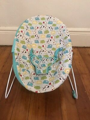 Bright Starts Silly Safari Bouncer Rocker Baby Infant Chair Play Fun Cradle Seat