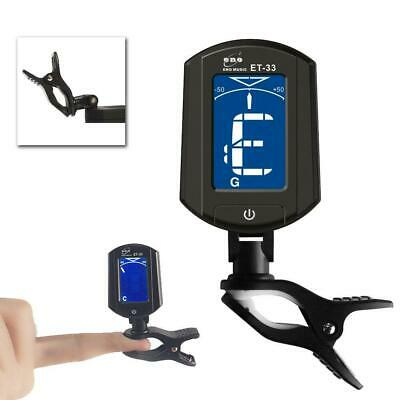 ET33 Digital Chromatic LCD Clip-On Electric Tuner for Bass Guitar Ukulele Violin