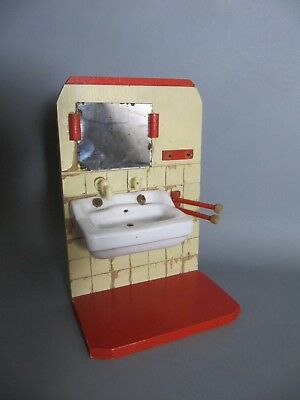 antikes Puppenstuben Badezimmer - antique dollhouses bath room