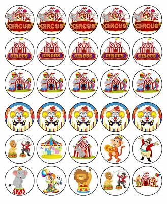 CIRCUS 19cm Edible Cake Topper Icing Image Birthday Party Decorations #1