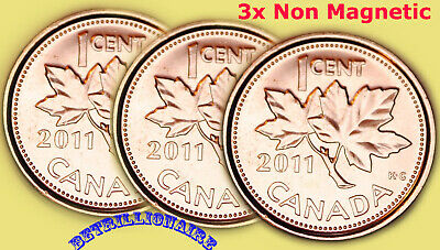 Dates: 1941 1946 1947 Lot of 3x Canada 1 Cent Penny Rolls