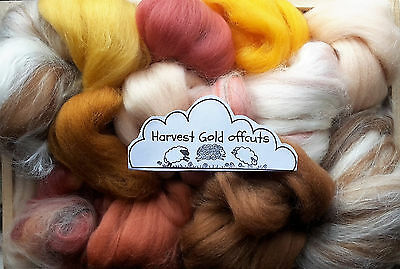 100g Wool Roving Selection Merino, Corriedale British, Natural, Needle felting