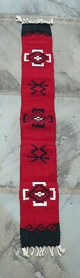 """Mexican 100% Wool Hand-Loomed Table Runner by Ellenbecker Trading Co., 8"""" x 60"""""""