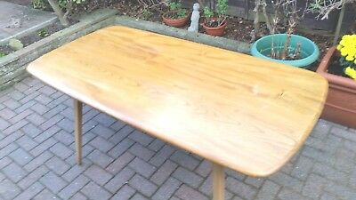 ERCOL PLANK DINING TABLE in BLOND Finish. Vintage/ Retro