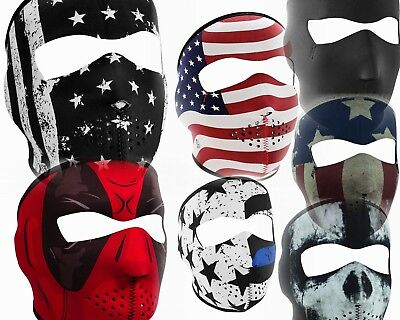 Zan Head Gear Full Face Mask Motorcycle Snowboarding Mask Ski Neoprene Polyester