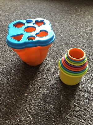 Shape Sorter And Stacking Two-in-One Toy