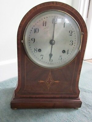 Antique Mahogany Cased Arch Topped Bracket Clock