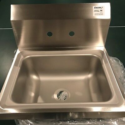 Encore Stainless Steel Hand Sink Model FS20-101405B2 with Faucet