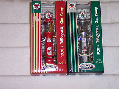 Lot of 2 Wayne Gas Pump 1920's Replica Texaco 98-99 Gear Box New 1/25 Scale