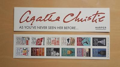 Lesezeichen Agatha Christie 'As you've never seen her before' Buch, Krimi, Flyer