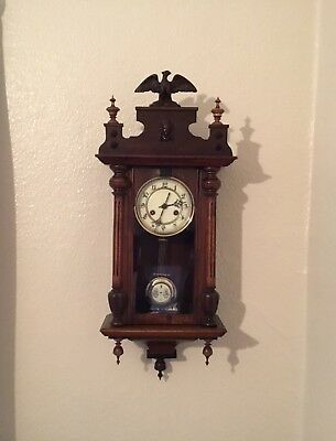 Victorian Vienna Wall Clock In Good Working Condition