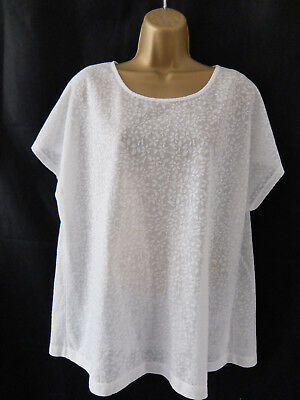 ANTHOLOGY ● size 20 ● ivory white lace blouse top womens ladies