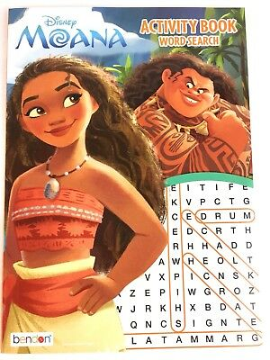 Disney Princess /& Moana Word Search Coloring Book Activity Puzzle Books Set of 2