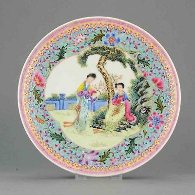 Antique Early PRoC Period Chinese Porcelain Dish Marked