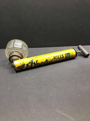 Antique  Bug Insect Sprayer with Wood Handle and Glass Jar - Boyle Midway Dist.