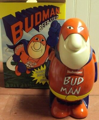 1989 Budman Beer Stein In The Original Box