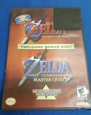 Gamecube Zelda Ocarina of Time With Bonus Disc Master Quest- Authentic & In Box!