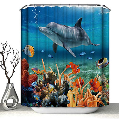 3D Shower Curtain with Digital Printing, Polyester Waterproof Heavy Duty
