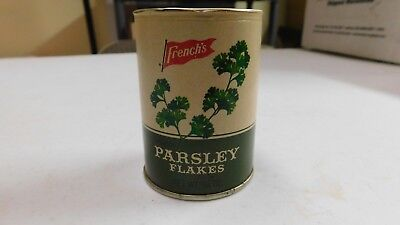 Vintage French's Parsley Flakes Cardboard & Metal Spice Tin