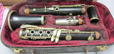 Noblet Made In France Wood Clarinet With Case No Model Number Needs Work