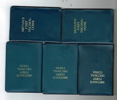 5 x First decimal coin sets 1967-1971