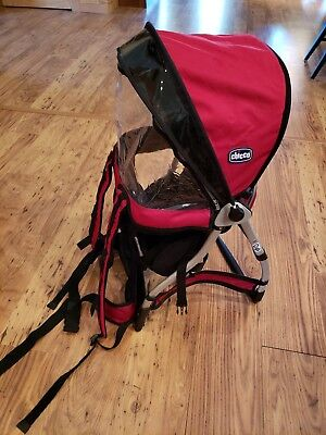 c4a6928d5f3 CHICCO Smartsupport Backpack Child Baby Hiking Walking Travel Carrier Red  Infant