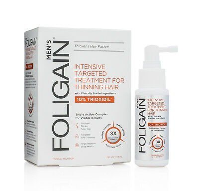 FOLIGAIN Intensive Targeted Treatment For Thinning Hair for Men w 10% Trioxidil