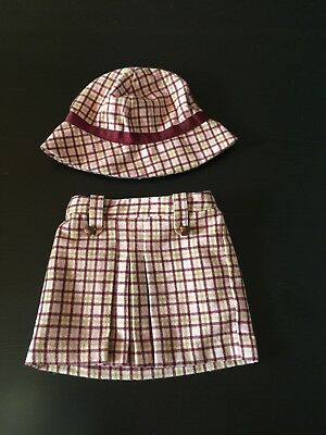Janie and Jack Baby Girl NWOT Aut Equestrian Tweed 12-18 Mos Skirt & 3-4T Hat