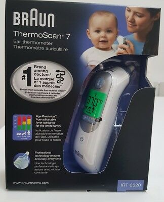 Braun ThermoScan 7 IRT6520 Baby Adult Professional Digital Ear Thermometer Tool