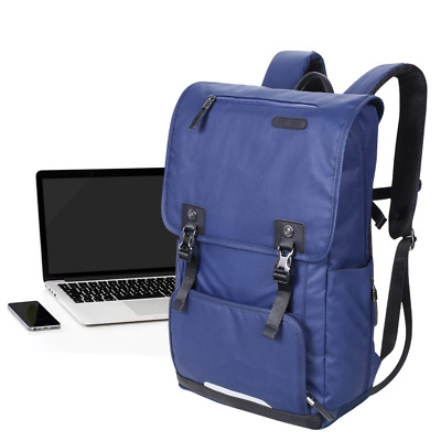 Slim Vintage Laptop Backpack w/Protective Compartment Fits 17'' Notebook NEW US