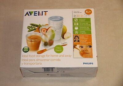 Philips AVENT Baby Food Storage Cups, Blue, 180/240 ml, Pack of 20