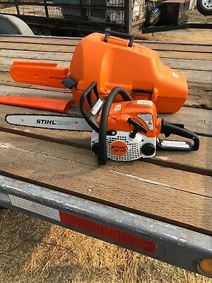 "STIHL MS170 Chainsaw 14"" Bar & Chain Starting, Running, Cutting 1 Hour Of Use !"