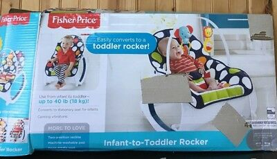 Fisher-Price Newborn to Toddler Rocker Navy Dots Infant Baby Seat Bouncer