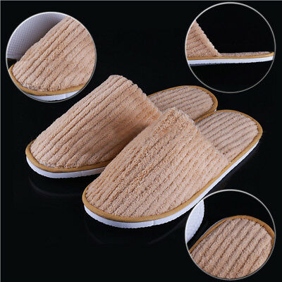 1pairs Towelling Hotel Slippers Closed Toe Disposable Travel Household Shoes New