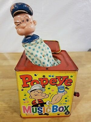 Popeye Music In The Box Vintage King Features Syndicate