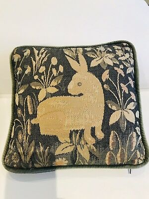 Rabbit Woven Tapestry Cushion by Belinda Coote (pair available)