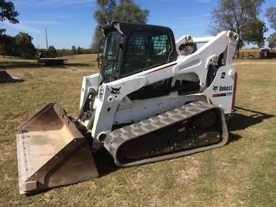 2015 Bobcat T870 Track Loader Skidsteer  Cab AC/Heat 2 Speed 815 Hours