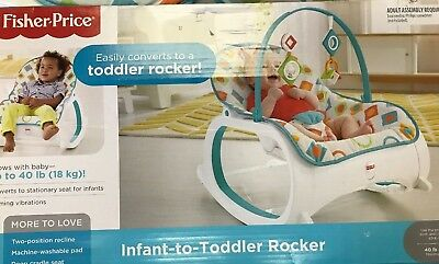 Infant-To-Toddler Rocker Geo Diamonds Colorful Diamonds Opened Box