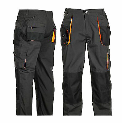 Work Trousers Cargo Combat Style Multi Pockets Heavy Duty Pants Knee Pad Pocket.