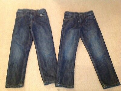 Boys Jeans 7/8 Years X2 Vgc. Denim And Co
