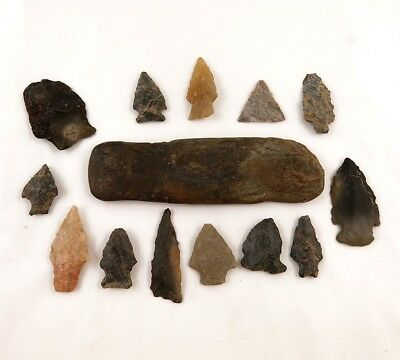 Lot of 14 Native American Indian Arrowheads