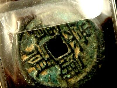 Ancient Chinese dynasty coin 1 cash Antique bronze China rare coin shipwreck 12